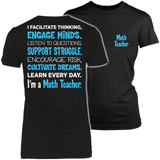Math - Engage Minds - District Made Womens Shirt / Black / S - 2