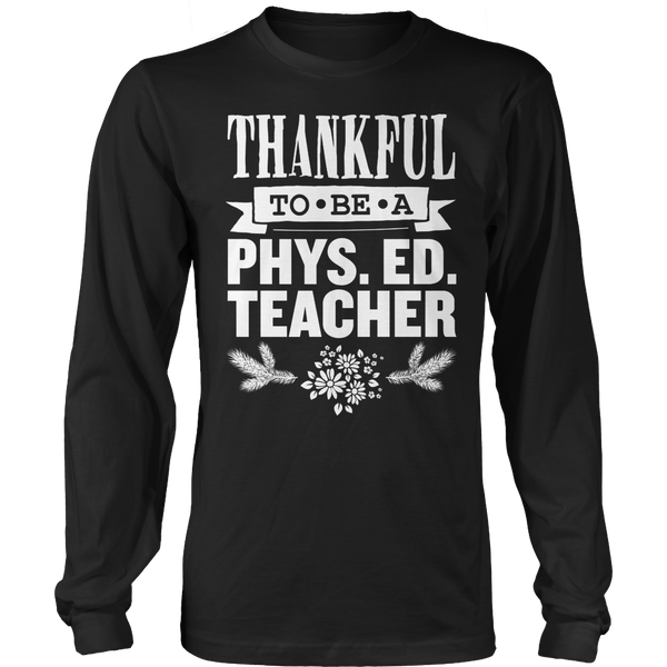 Phys Ed - Thankful - District Long Sleeve / Black / S - 1