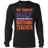 Math - My Broom Broke - District Long Sleeve / Black / S - 7