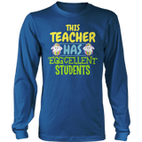 Teacher - Eggcellent - District Long Sleeve / Royal Blue / S - 9