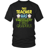First Grade - Eggcellent - District Unisex Shirt / Black / S - 7