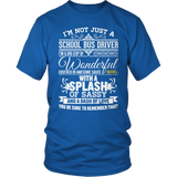School Bus Driver - Big Cup - District Unisex Shirt / Royal Blue / S - 8