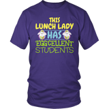 Lunch Lady - Eggcellent - District Unisex Shirt / Purple / S - 6