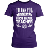 First Grade - Thankful - District Made Womens Shirt / Purple / S - 4