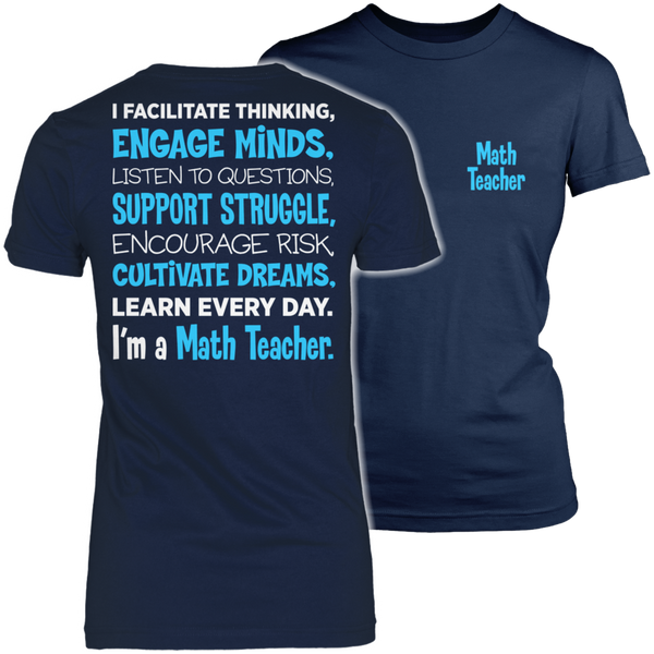 Math - Engage Minds - District Made Womens Shirt / Navy / S - 1