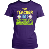 Math - Eggcellent - District Made Womens Shirt / Purple / S - 2