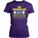 Counselor - Eggcellent Students - District Made Womens Shirt / Purple / S - 2