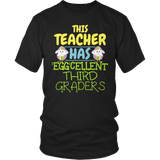 Third Grade - Eggcellent - District Unisex Shirt / Black / S - 7