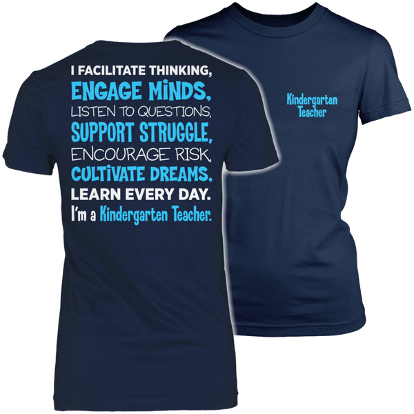 Kindergarten - Engage Minds - District Made Womens Shirt / Navy / S - 1