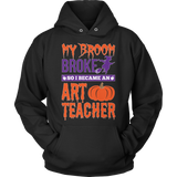Art - My Broom Broke - Hoodie / Black / S - 10