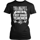First Grade - Thankful - District Made Womens Shirt / Black / S - 6