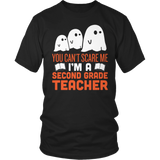 Second Grade - Ghosts - District Unisex Shirt / Black / S - 4