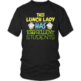 Lunch Lady - Eggcellent - District Unisex Shirt / Black / S - 7