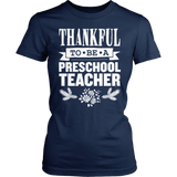 Preschool - Thankful - District Made Womens Shirt / Navy / S - 5