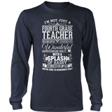 Fourth Grade - Big Cup - District Long Sleeve / Navy / S - 10
