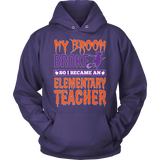Elementary - My Broom Broke - Hoodie / Purple / S - 12