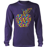Teacher - Easter Apple - District Long Sleeve / Purple / S - 11