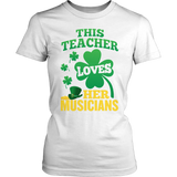 Music - St. Patrick's Musicians - District Made Womens Shirt / White / S - 6