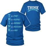 Teacher - THINK - District Unisex Shirt / Royal Blue / S - 6