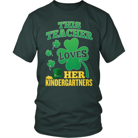 Kindergarten - St. Patrick's Kindergartners - District Unisex Shirt / Dark Green / S - 1