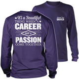 School Bus Driver - Beautiful Thing - District Long Sleeve / Purple / S - 11