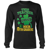 Fifth Grade - St. Patrick's Fifth Graders - District Long Sleeve / Black / S - 10