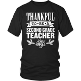Second Grade - Thankful - District Unisex Shirt / Black / S - 9
