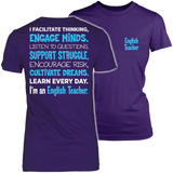 English - Engage Minds - District Made Womens Shirt / Purple / S - 3
