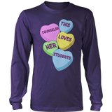 Counselor - Candy Hearts - District Long Sleeve / Purple / S - 11