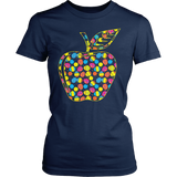 Teacher - Easter Apple - District Made Womens Shirt / Navy / S - 3