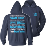 English - Engage Minds - Hoodie / Navy / S - 13