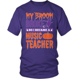 Music - My Broom Broke - District Unisex Shirt / Purple / S - 6
