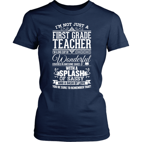 First Grade - Big Cup - District Made Womens Shirt / Navy / S - 1