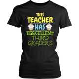 Third Grade - Eggcellent - District Made Womens Shirt / Black / S - 4