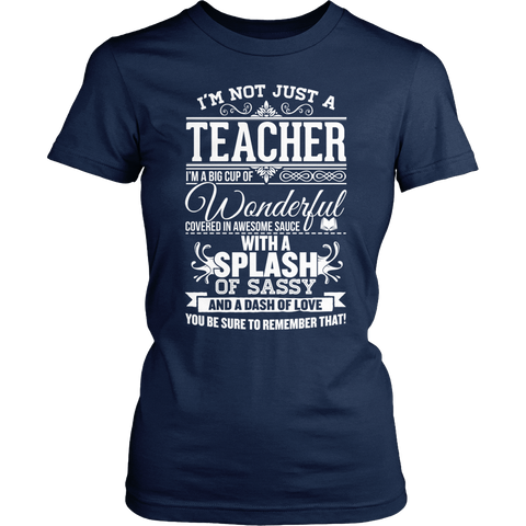Teacher - Big Cup - District Made Womens Shirt / Navy / S - 1