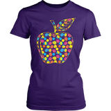 Teacher - Easter Apple - District Made Womens Shirt / Purple / S - 4