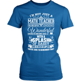 Math - Big Cup - District Made Womens Shirt / Royal / S - 4