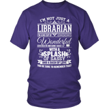 Librarian - Big Cup - District Unisex Shirt / Purple / S - 7