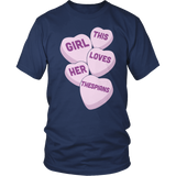Theater - Candy Hearts - District Unisex Shirt / Navy / S - 5