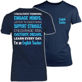 English - Engage Minds - District Made Womens Shirt / Navy / S - 1