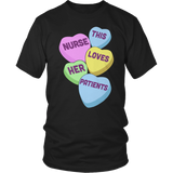 Nurse - Candy Hearts - District Unisex Shirt / Black / S - 10
