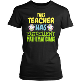 Math - Eggcellent - District Made Womens Shirt / Black / S - 4