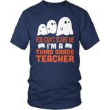 Third Grade - Ghosts - District Unisex Shirt / Navy / S - 5