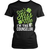 Counselor - Don't Kiss Me - District Made Womens Shirt / Black / S - 5