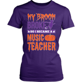Music - My Broom Broke - District Made Womens Shirt / Purple / S - 3