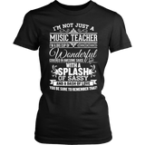 Music - Big Cup - District Made Womens Shirt / Black / S - 2