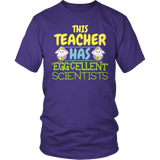 Science - Eggcellent - District Unisex Shirt / Purple / S - 6