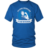 Crossing Guard - Not For The Weak - District Unisex Shirt / Royal Blue / S - 4
