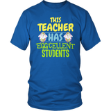 Teacher - Eggcellent - District Unisex Shirt / Royal Blue / S - 5