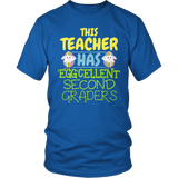 Second Grade - Eggcellent - District Unisex Shirt / Royal Blue / S - 5